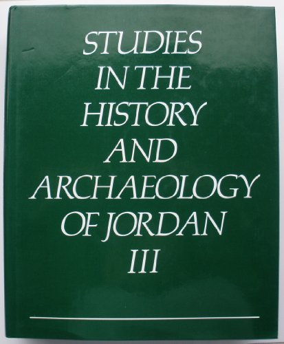 9780710213723: Studies in the History and Archaeology of Jordan III (v. 3)
