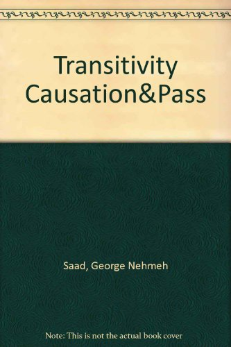 9780710300225: Transitivity, Causation and Passivation