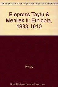 9780710303691: Empress Taytu and Menilek II Ethiopia 1883-1910