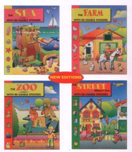 9780710506689: Creative Sticker Fun Book: Zoo; Sea; Street Where I Live; Farm