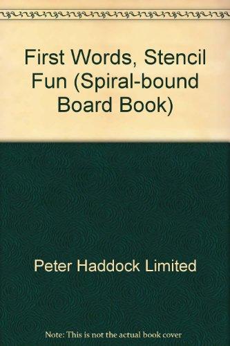 9780710512284: First Words, Stencil Fun (Spiral-bound Board Book)