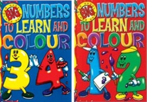 9780710512550: Big and Easy Numbers to Learn and Colour Book