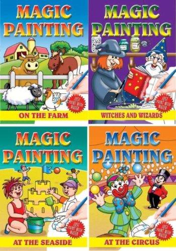 9780710514424: Magic Painting Book (A182) 4 Per Pack