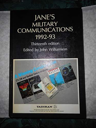 JANE'S MILITARY COMMUNICATIONS 1992-93: Williamson, John