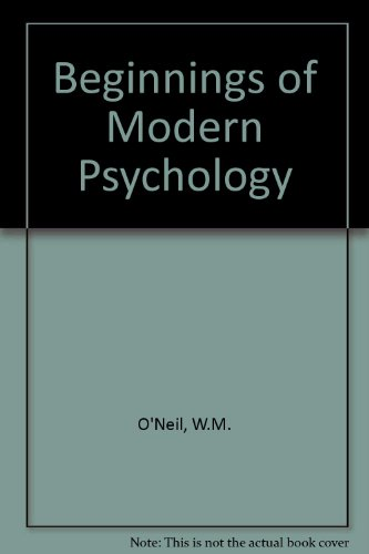 9780710803344: Beginnings of Modern Psychology
