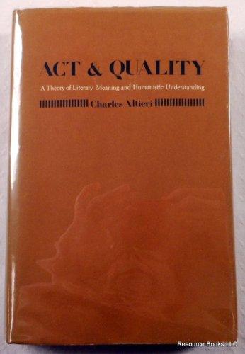 9780710803764: Act & Quality Altieri
