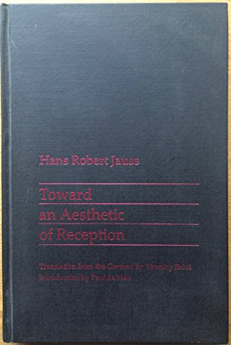 9780710803948: Toward an Aesthetic of Reception
