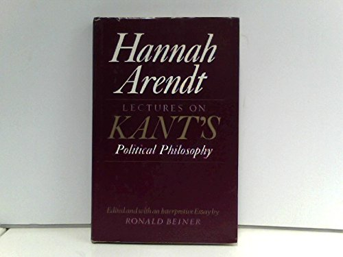 9780710804495: Lectures on Kant's Political Philosophy