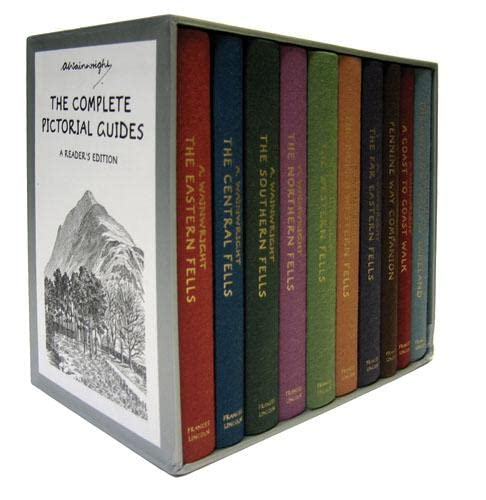 9780711229532: Complete Reader's Edition Boxed Set of Enlarged, Cloth-bound Pictorial Guides to the Lakeland Fells (Lake District & Cumbria)