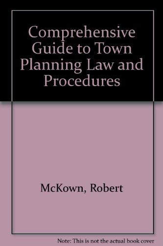 9780711433076: Comprehensive Guide to Town Planning Law and Procedures (A