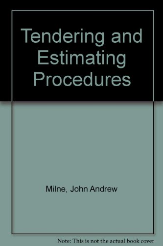 9780711455832: Tendering and Estimating Procedures