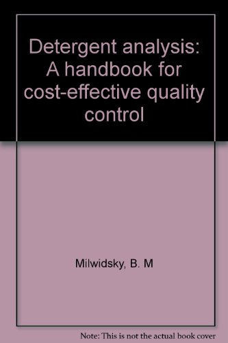 9780711457355: Detergent analysis: A handbook for cost-effective quality control