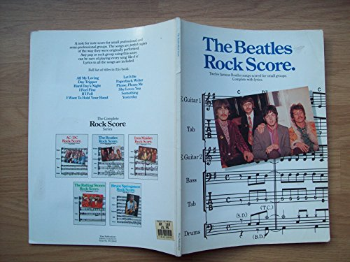 9780711905573: The Beatles rock score: Twelve famous Beatles songs scored for small groups : complete with lyrics (Rock score)