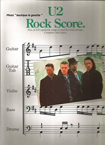 9780711916654: U2 Rock Score: Five of U2's Greatest Songs Scored for Small Groups