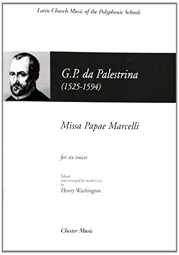 MISSA PAPAE MARCELLI SATTBB LATIN CHURCH MUSIC
