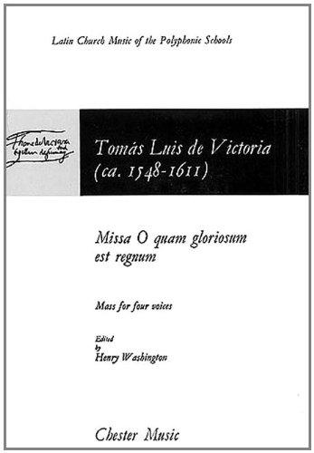 9780711918504: Missa O Quam Gloriosum Est Regnum: Mass for Four Voices