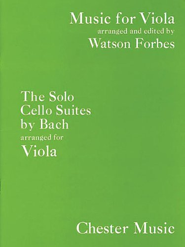 9780711920330: The Solo Cello Suites Arranged for Viola (Music for Viola)