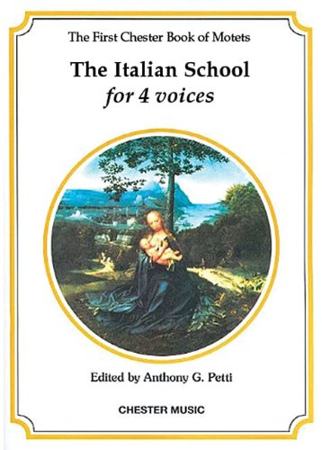 9780711920576: The Chester Book of Motets - Volume 1: The Italian School for 4 Voices