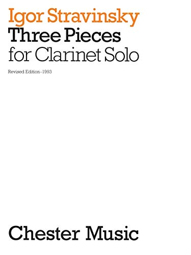 9780711922389: Three Pieces for Clarinet Solo