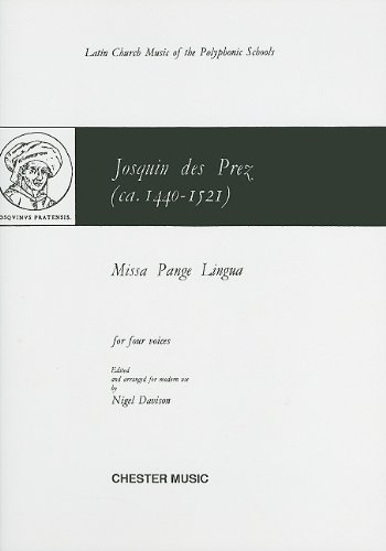 PRES MISSA PANGE LINGUA (DAVISON) SATB (L)