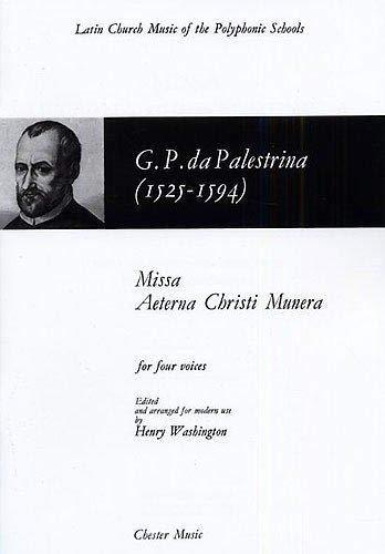 9780711924482: Giovanni Palestrina: Missa Aeterna Christi Munera