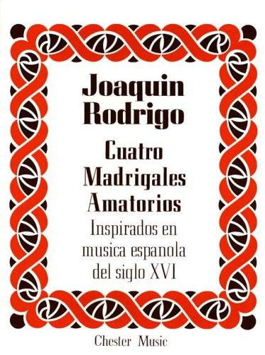 9780711924529: RODRIGO CUATRO MADRIGALES AMATORIOS HIGH VOICE/PF (SP F)