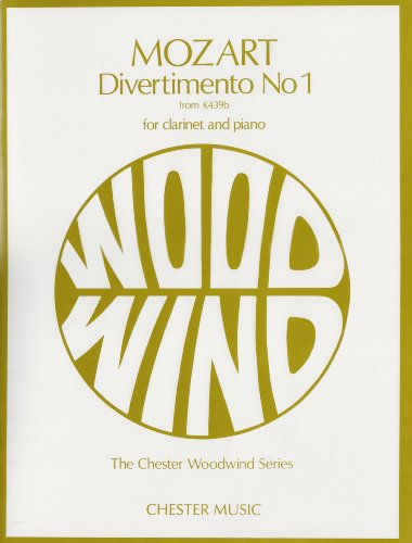9780711928114: Mozart: Divertimento No.1 K439b For Clarinet And Piano
