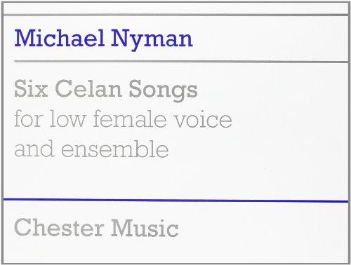 9780711930124: Michael Nyman: Six Celan Songs Full Score