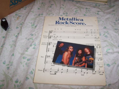 "9780711934078: Metallica rock score: Five classic tracks, including ""One... and ""Jump in the Fire..., scored for small groups : complete with lyrics"