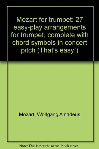 9780711939905: Mozart for Trumpet (That's Easy Series)