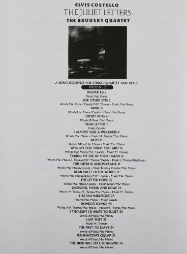 9780711957992: Elvis Costello: The Juliet Letters (String Parts)