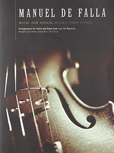 9780711961388: FALLA MUSIC FOR VIOLIN AND PIANO VIOLIN