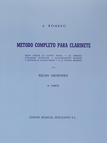 9780711963528: Romero Metodo Completo Para Clarinete (Menendez): Pt. 3