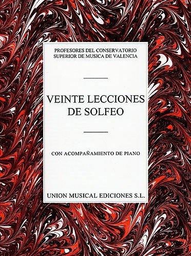 9780711968691: VARIOS VEINTE LECCIONES DE SOLFEO VCE