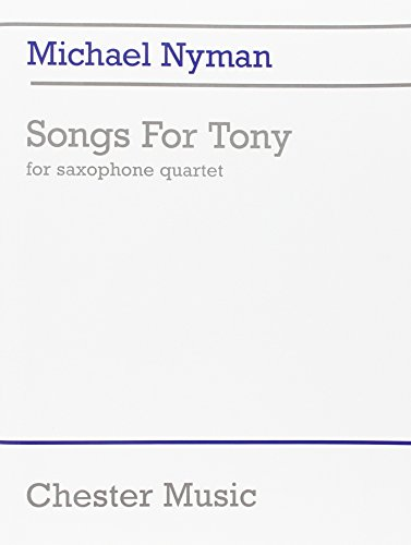 9780711968851: Michael Nyman: Songs for Tony