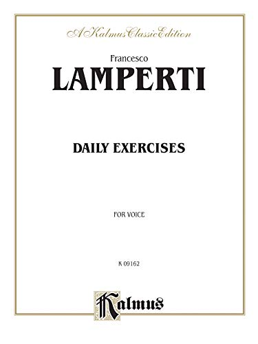 9780711977853: Daily Exercises in Singing (Kalmus Edition)