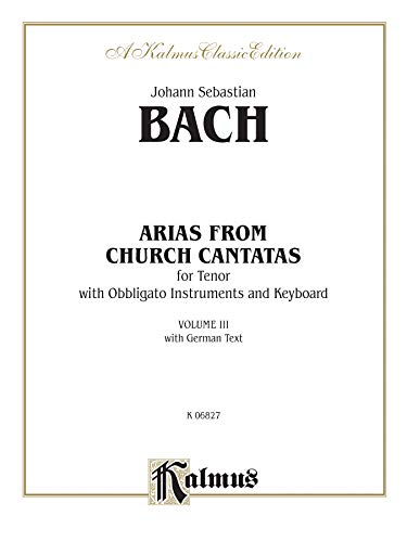 9780711978775: Tenor Arias, (4 Arias), Vol 3: German Language Edition (Kalmus Edition)