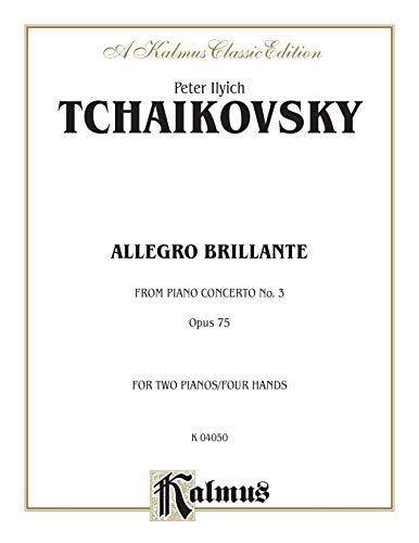 9780711979130: Piano Concerto No. 3, Op. 75, (1st movement only) (Allegro Brillante) (Kalmus Edition)