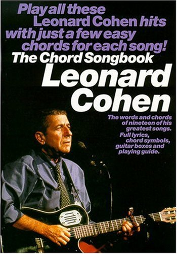 9780711981072: Leonard Cohen The Chord Songbook Melody Lyrics and Chords Book