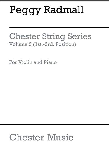 9780711986060: Peggy Radmall: Chester String Series Violin Book 3