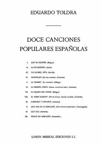 9780711988118: Doce Canciones Populares Espanolas