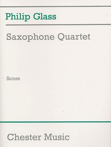 9780711989580: SAXOPHONE QUARTET (SCORE) GLASS SCORE
