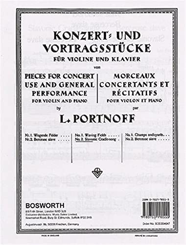 9780711990111: Leo Portnoff: Slavonic Cradle-Song For Violin And Piano