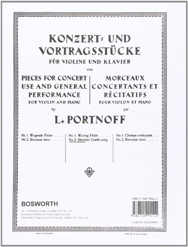 9780711990111: Berceuse Slave - Violon