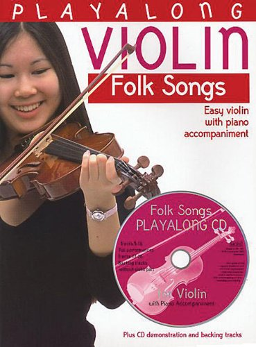 9780711991590: PLAYALONG VIOLIN FOLKSONGS EASY VIOLIN WITH PIANO ACCOMPANIMENT BOOK/CD