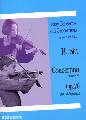 9780711991880: Hans Sitt: Concertino in A Minor for Violin and Piano Op.70