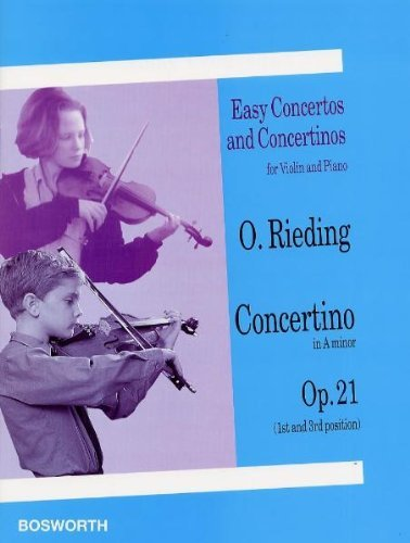 9780711992177: Oscar Rieding: Concertino in a Minor, Opus 21 (Easy Concertos and Concertinos for Violin and Piano)