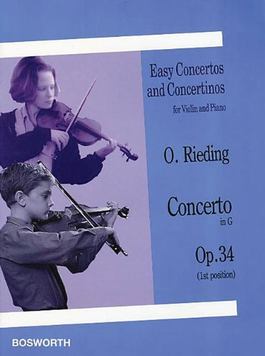 9780711992924: Concerto in G, Op. 34: Easy Concertos and Concertinos Series for Violin and Piano