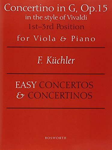 9780711995178: CONCERTOS AND CONCERTINOS FOR VIOLA AND PIANO OP 15 1ST AND 3RD POSITION