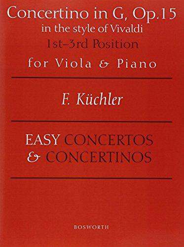 9780711995178: Ferdinand Kuchler: Concertino in G Op.15 (Viola/Piano)